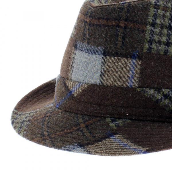 chapeau homme trilby patchwork