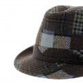 chapeau femme trilby patchwork