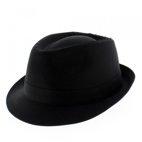 Chapeau trilby tissu - Teton noir