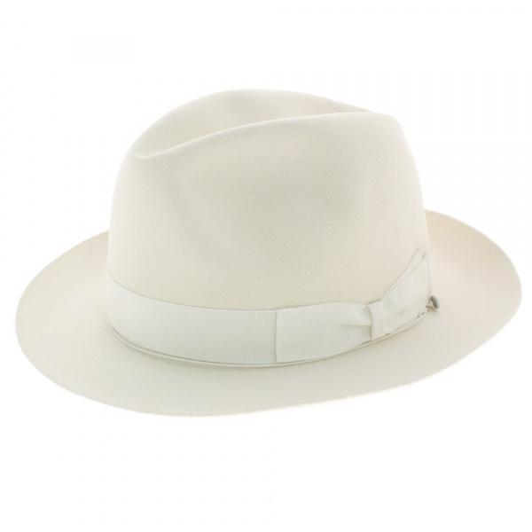 chapeau borsalino blanc chapeau feutre poil blanc. Black Bedroom Furniture Sets. Home Design Ideas