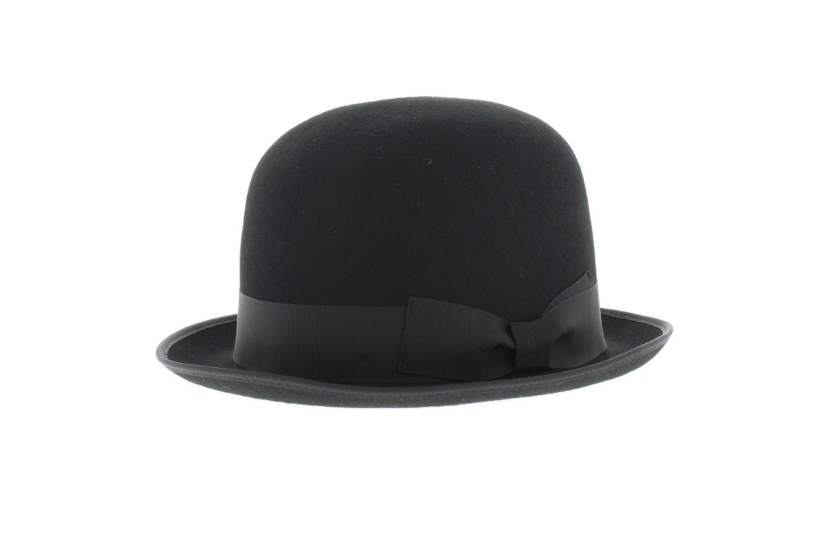 chapeau melon feutre laine pliable. Black Bedroom Furniture Sets. Home Design Ideas