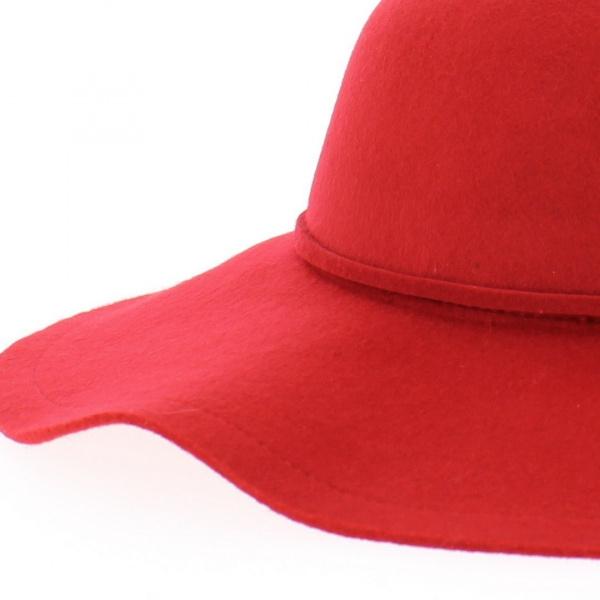 Capeline feutre rouge