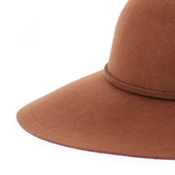 Capeline feutre marron