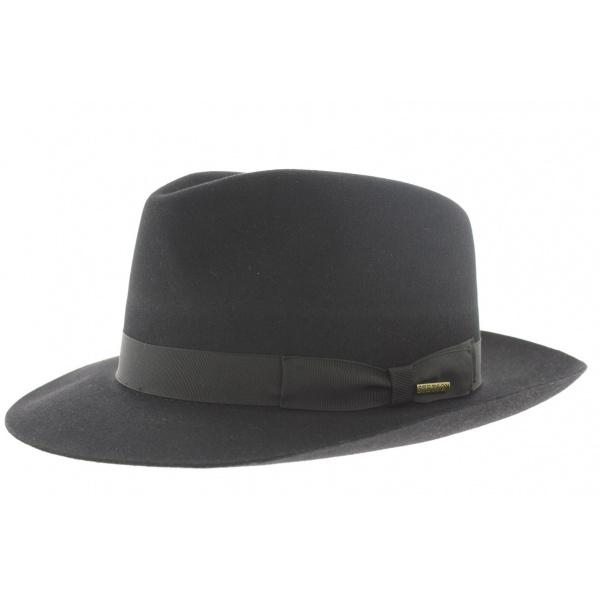 Chapeau Feutre Poil Bogart Penn Noir - Stetson