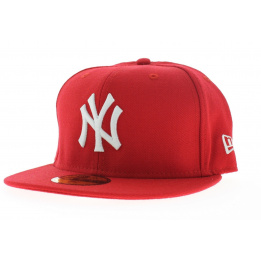 Casquette New York rouge