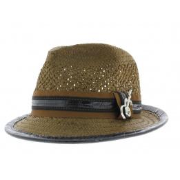 chapeau trilby Carlos Santana marron