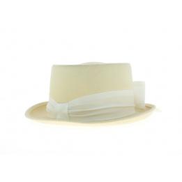 Chapeau demi haut de forme Beige 10 cm