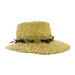 Giuditta - casquette de paille beige
