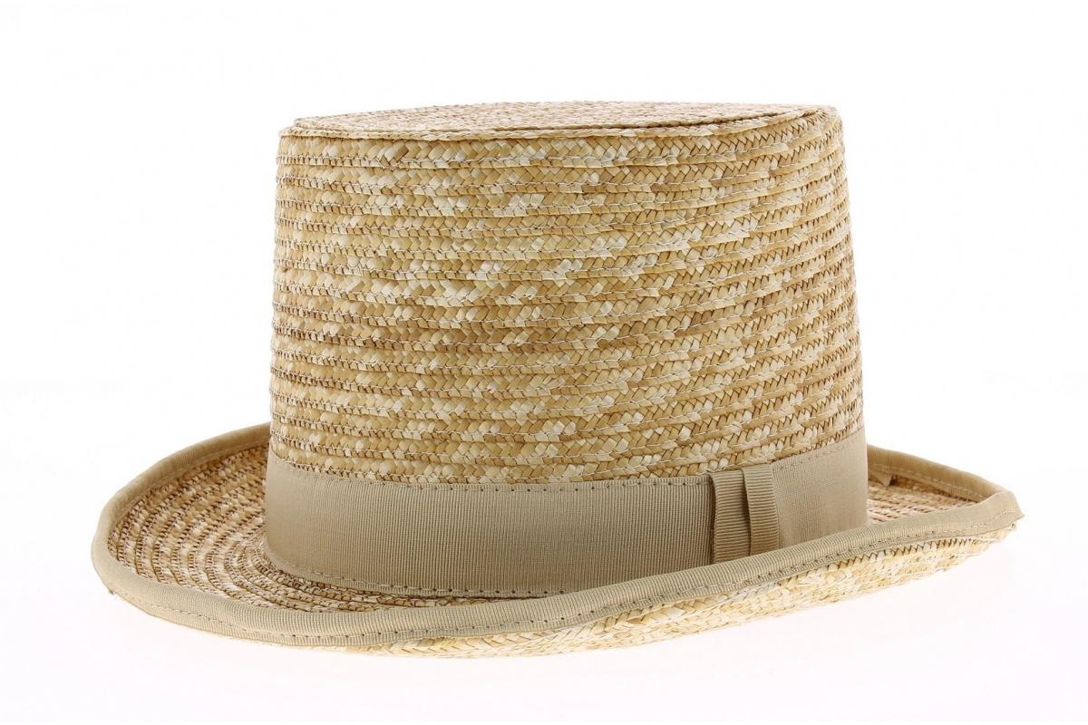 chapeau haut de forme en paille chapeau traclet. Black Bedroom Furniture Sets. Home Design Ideas