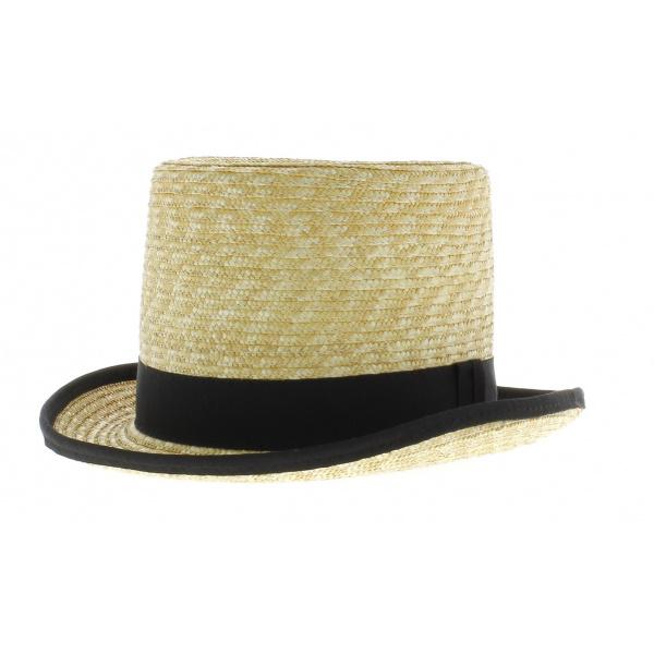 Chapeau haut de forme en paille chapeau traclet - Deco chapeau de paille ...