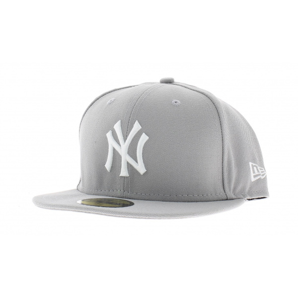 casquette visi re plate ny grise achat casquette snapback new era. Black Bedroom Furniture Sets. Home Design Ideas