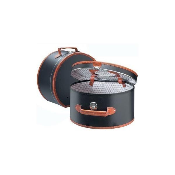 boite chapeaux prestige cuir marron traclet. Black Bedroom Furniture Sets. Home Design Ideas