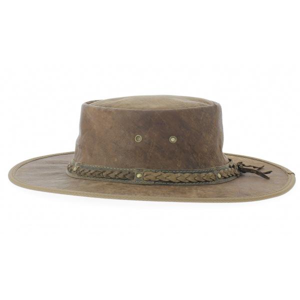 Chapeau cuir kangourou squashy