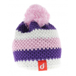 Bonnet Le Drapo Blanc-Violet-Rose