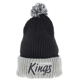 Bonnet noir long à pompon Los Angeles kings Vintage