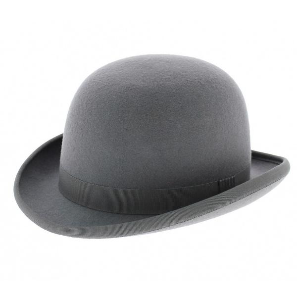 Chapeau melon gris