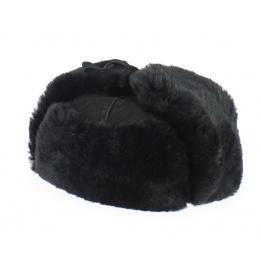 Chapka Cuir & Mouton Noir - Traclet