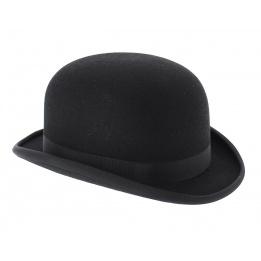 chapeau melon feutre laine coloris noir. Black Bedroom Furniture Sets. Home Design Ideas