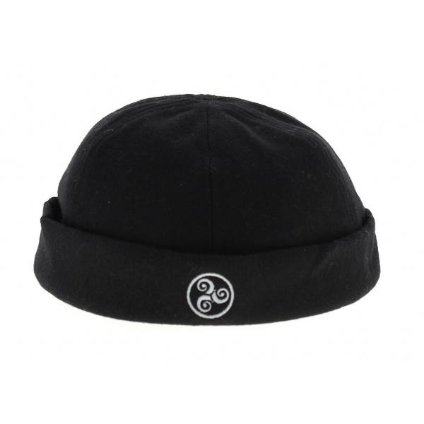 bonnet marin laine triskell traclet noir. Black Bedroom Furniture Sets. Home Design Ideas