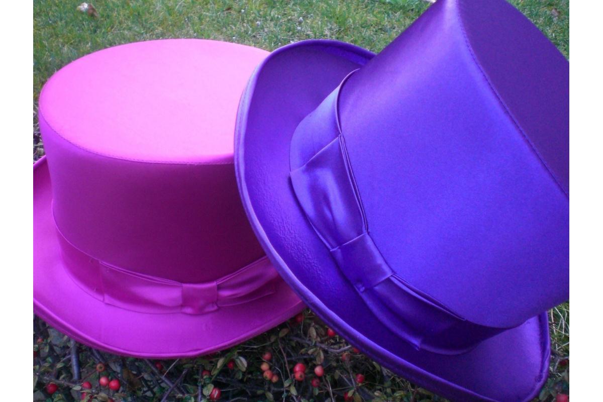 chapeau haut de forme satin. Black Bedroom Furniture Sets. Home Design Ideas