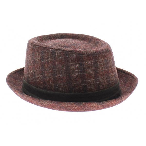 chapeau porkpie guerra rouge