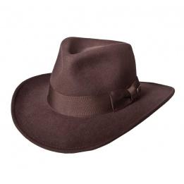 Chapeau Indiana - Feutre laine brun