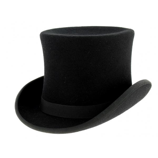 chapeau haut de forme feutre laine noir. Black Bedroom Furniture Sets. Home Design Ideas