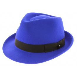Chapeau feutre Elkader bleu électrique