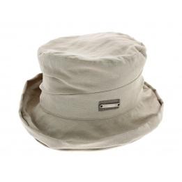 Chapeau cloche souple beige