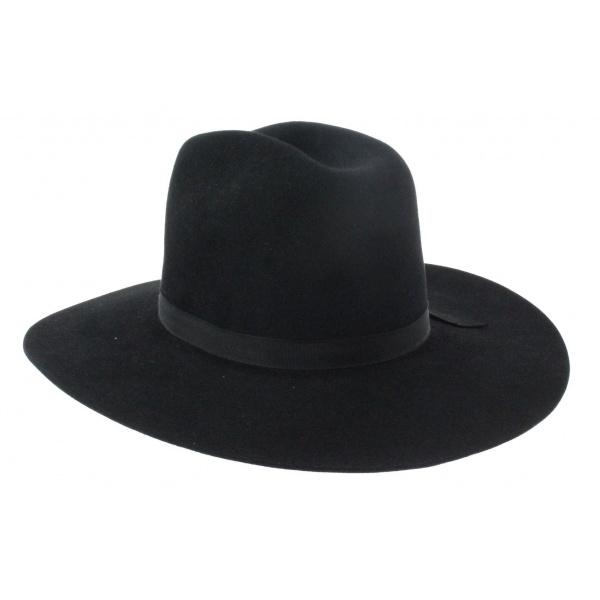 chapeau western feutre poil noir. Black Bedroom Furniture Sets. Home Design Ideas