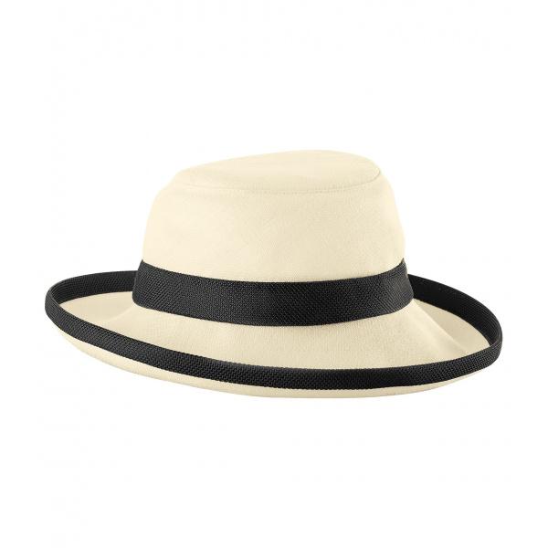 Chapeau femme TH8 bi couleurs naturel et noir