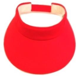 Casquette visière rouge