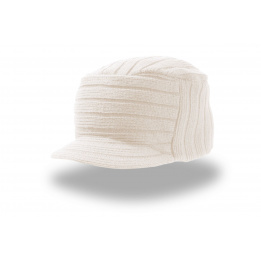 Bonnet casquette Tribe blanc