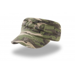 casquette urban hiver camouflage destroyed
