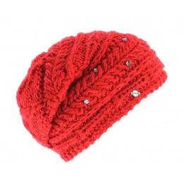 Bonnet basic oversize rouge