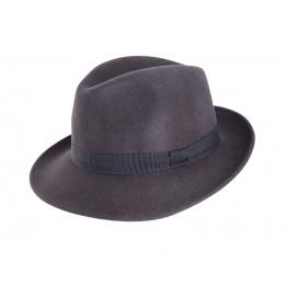 Chapeau trilby gris feutre