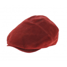 Casquette Ralph Cuir Rouge - Traclet