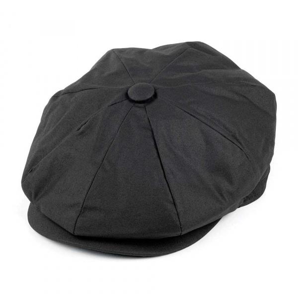 Casquette toile cirée noir JAXON