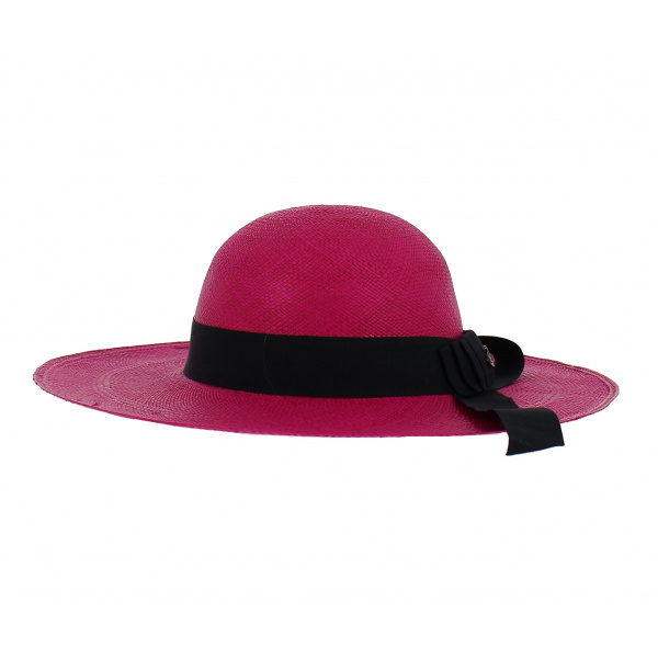 capeline panama fushia chapeau panama femme achat chapeau panama. Black Bedroom Furniture Sets. Home Design Ideas