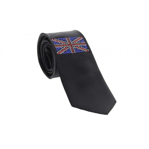 Cravate Soie Strass UK