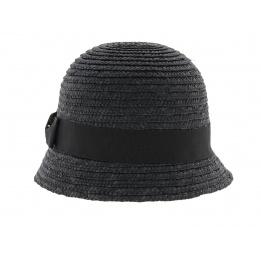 Chapeau cloche paille Maithe Noir
