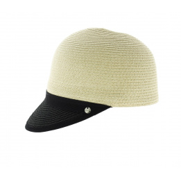 Casquette paille style bombe