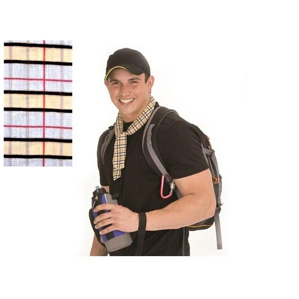 tour de cou r frig rant body cooler carreaux chapeau. Black Bedroom Furniture Sets. Home Design Ideas