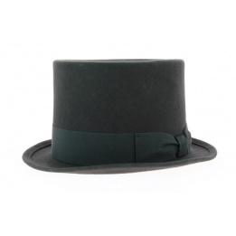 Chapeau haut de forme gris laine