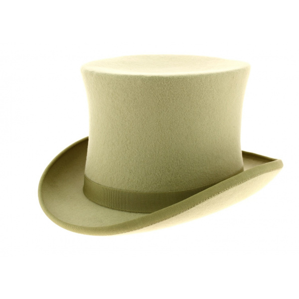 chapeau haut de forme beige achat haut de forme. Black Bedroom Furniture Sets. Home Design Ideas