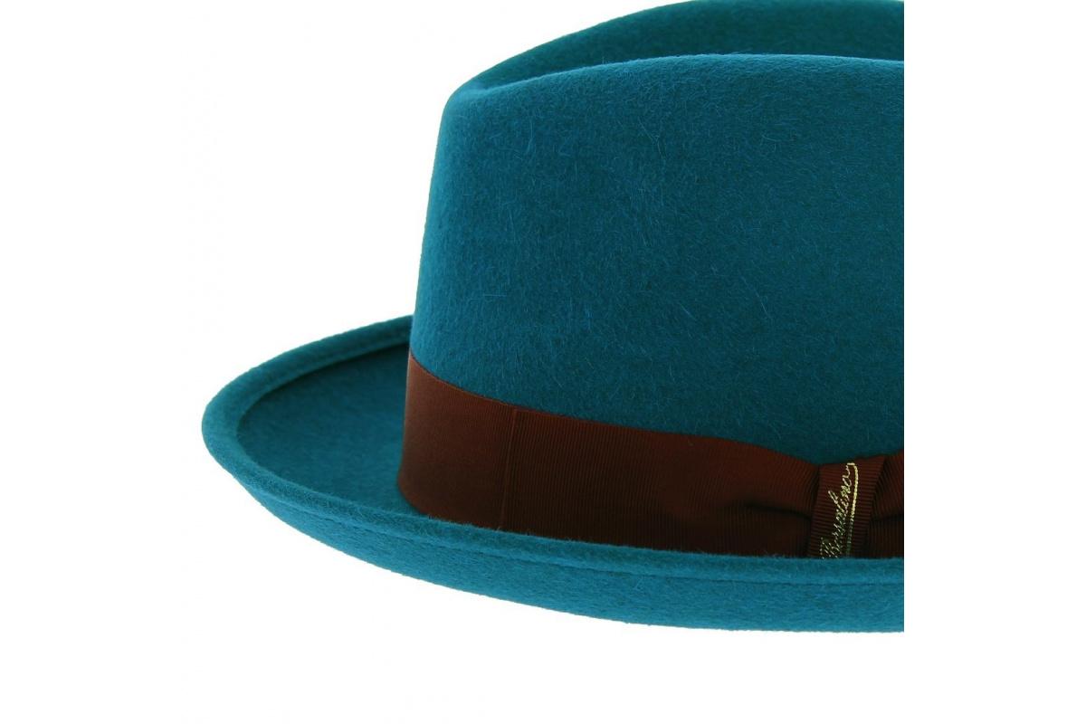 5436e2f192c Chapeau melon Borsalino - Bleu canard - Chapeau Traclet