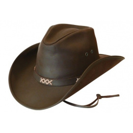 Chapeau western - Pampa Safari cuir