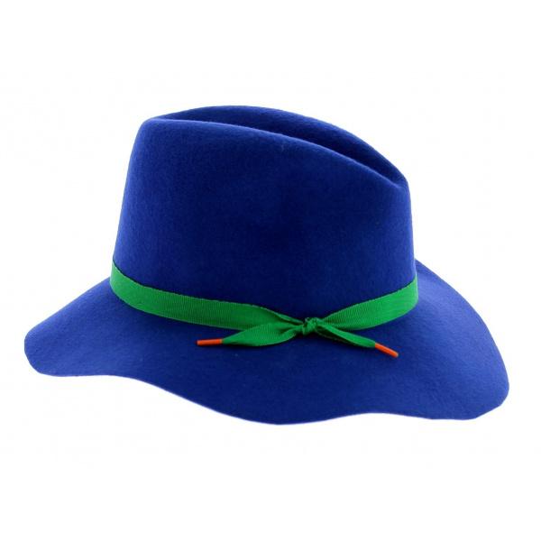 Capeline feutre - Gemma bleue