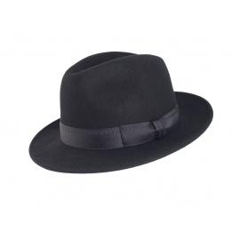 Chapeau feutre Laine Noir Godfather - Traclet