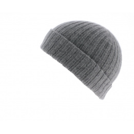 Bonnet cachemire gris